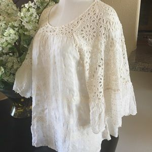 NWT Johnny was ruffles blouse